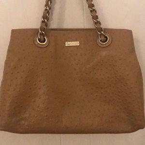 Tan ostrich Kate Spade purse